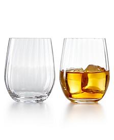 Optical O Whiskey Glasses, Set of 2