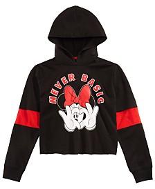 Disney Big Girls Minnie Mouse Crop Hoodie