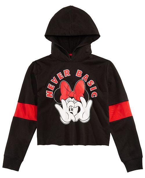 f1fcad8bb Disney Big Girls Minnie Mouse Crop Hoodie   Reviews - Sweatshirts ...
