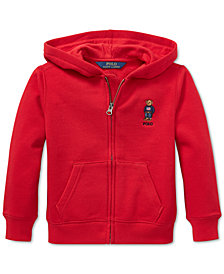 Polo Ralph Lauren Toddler Boys Polo Bear Fleece Hoodie