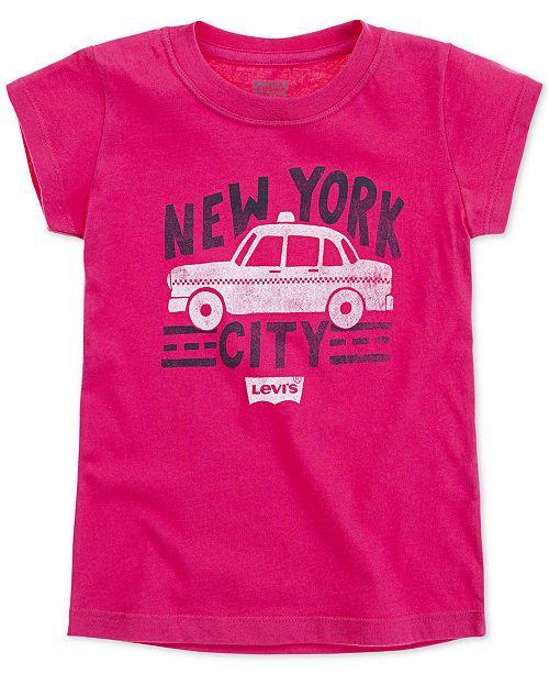 Levi's Little Girls New York City Cotton T-Shirt