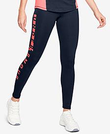 Under Armour ColdGear® Fleece-Lined Logo Leggings