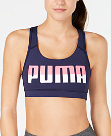Puma 4Keeps Logo Racerback Medium-Impact Sports Bra