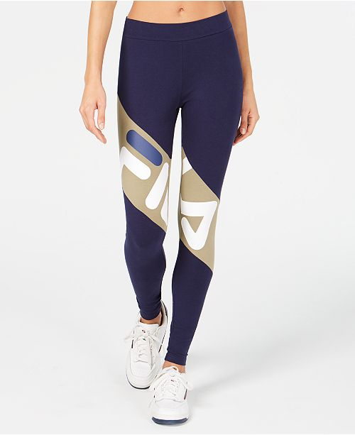 4e5dbd5ac266 Fila Colorblocked Logo Leggings & Reviews - Pants & Capris - Women ...
