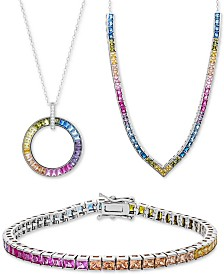 Giani Bernini Rainbow Cubic Zirconia Collection in Sterling Silver, Created for Macy's