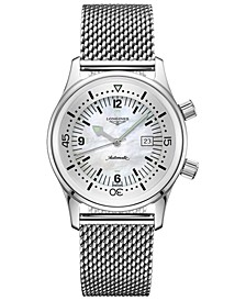 Women's Swiss Automatic Legend Diver Stainless Steel Mesh Bracelet Watch 36mm