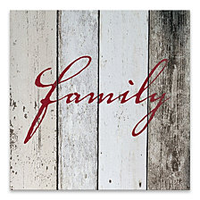 Family On Wood Printed Canvas