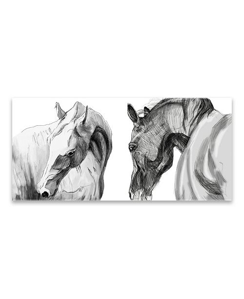 "Artissimo Designs Horse Friends Printed Acrylic Canvas Art - 47"" W x 22"" H x 0.75"" D"