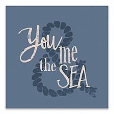 """Beachy Words Printed Canvas Art - 18"""" W x 18"""" H x 1.25"""" D"""