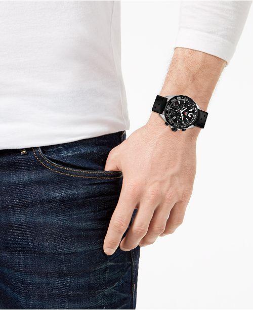0454db4d759 TAG Heuer Men s Formula 1 Chronograph Black Rubber Strap Watch 43mm ...