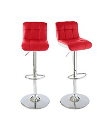 Becca Adjustable Swivel Bar Stool Set