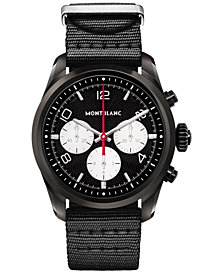 Montblanc Men's Swiss Summit 2 Black Nylon Strap Touchscreen Smart Watch 42mm, Created for Macy's