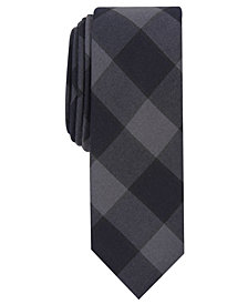 Penguin Men's Elise Skinny Plaid Tie