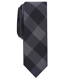 Penguin Men's Elise Skinny Plaid Tie