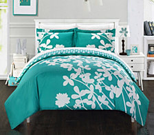 Chic Home Calla Lily 7 Pc King Duvet Set