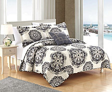 Chic Home Madrid 8 Piece King Bed in a Bag Quilt Set