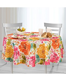 "Evelyn Indoor/Outdoor 70"" Round Tablecloth"