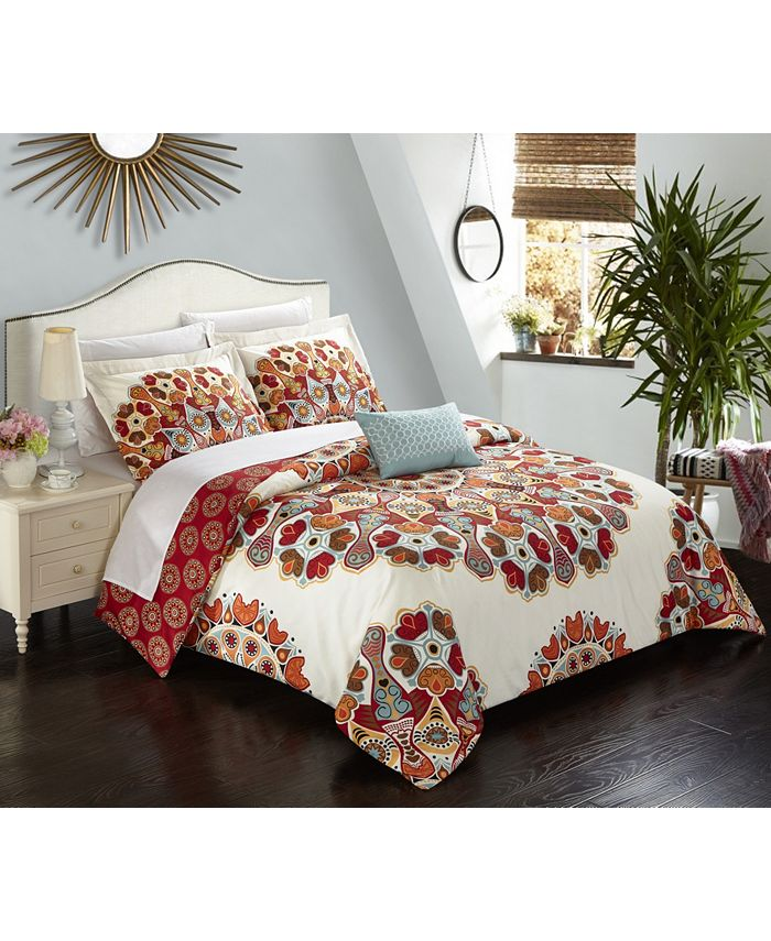 Chic Home - Maxim 8-Pc. King Bed In a Bag Duvet Set