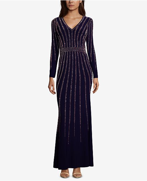 6e0a25977f XSCAPE Petite Vertical-Embellished Evening Gown   Reviews ...