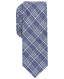 Penguin Men's Horia Skinny Plaid Tie