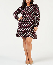 MICHAEL Michael Kors Plus Size Chevron Sweater Dress