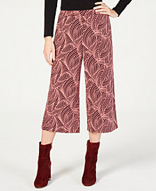MICHAEL Michael Kors Swirl Wave Culotte Cropped Pants