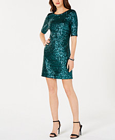 Betsey Johnson Sequined A-Line Dress