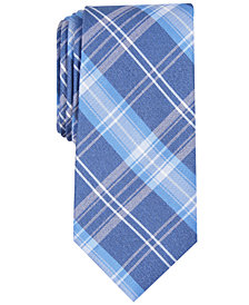 Nautica Men's Cropley Slim Plaid Silk Tie