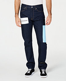 Calvin Klein Jeans Men's Straight-Fit Stretch Logo-Print Jeans