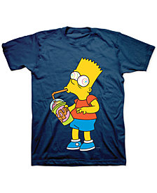 Bart Simpson Brain Freeze Men's Graphic T-Shirt