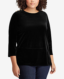 Lauren Ralph Lauren Plus Size Velvet Tunic Top