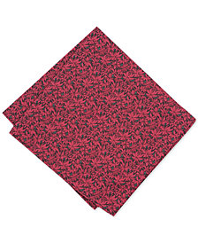 Bar III Men's Poinsettia Pocket Square, Created for Macy's