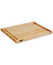 """John Boos Hard Rock Maple Au Jus 20"""" x 15"""" Cutting Board"""