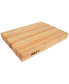 "John Boos Hard Rock Maple 20"" x 18"" Reversible Cutting Board"