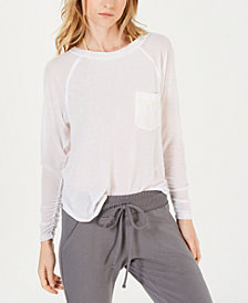 Free People Ruched-Sleeve T-Shirt with Pocket