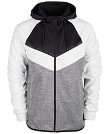 Men's Colorblocked Fleece Zip Hoodie, Created for Macy's