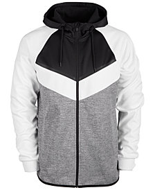 ID Ideology Men's Colorblocked Fleece Zip Hoodie, Created for Macy's