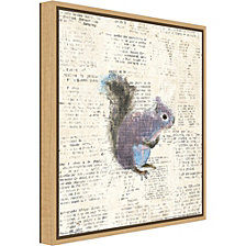 Amanti Art Into the Woods V Squirrel by Emily Adams Canvas Framed Art
