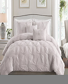 Floral Pintuck Twin/Twin XL Comforter Set