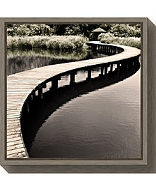 Water Walkway by Eric Chan Canvas Framed Art
