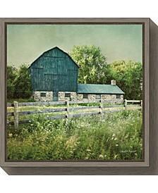 Blissful Country III Barn by Elizabeth Urquhart Canvas Framed Art