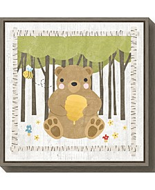 Woodland Hideaway Bear by Moira Hershey Canvas Framed Art
