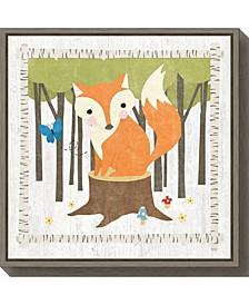 Woodland Hideaway Fox by Moira Hershey Canvas Framed Art