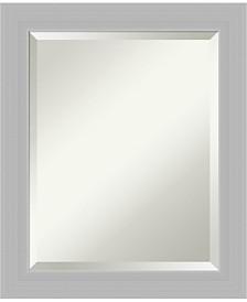Amanti Art Brushed Sterling 20x24 Bathroom Mirror