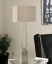 Carugo Polished Nickel Lamp
