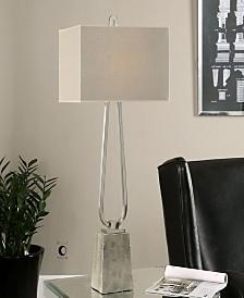 Uttermost Carugo Polished Nickel Lamp