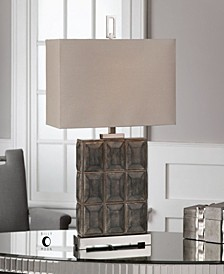 Kastoria Rusty Bronze Block Lamp