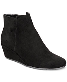 Kenneth Cole Reaction Women's Tip Plain Wedge Booties