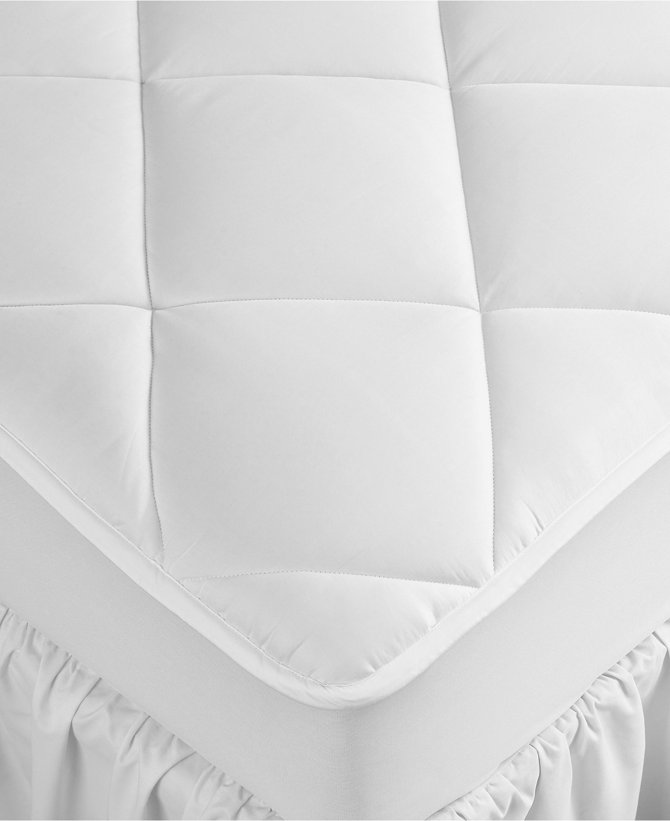 Hotel Collection Extra Deep Mattress Pads Hypoallergenic Down Alternative Fill 500 Thread Count Cotton Created For Macy S Toppers