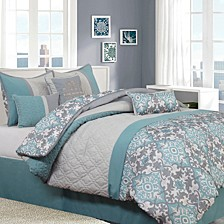 Reina 7 PC Comforter Set, Queen